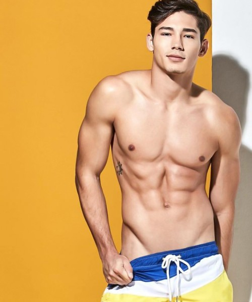 handsome, hunk, asian, yellow, stud bodywear