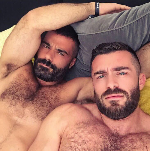 men in bed, hairy, handsome, men in bed