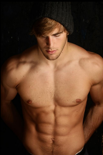 handsome, hunk, shirtless guy, abs, muscles