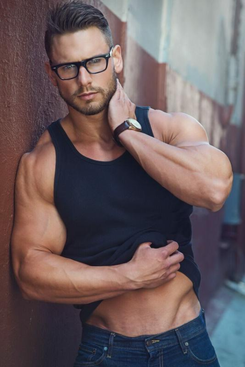 handsome, hunk, guy in glasses