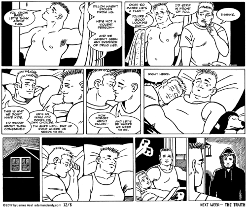 James Asal Jr, Gay comic strip