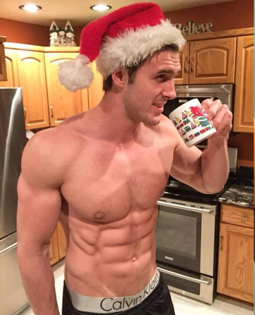 christmas, handsome, hunk, abs, muscles