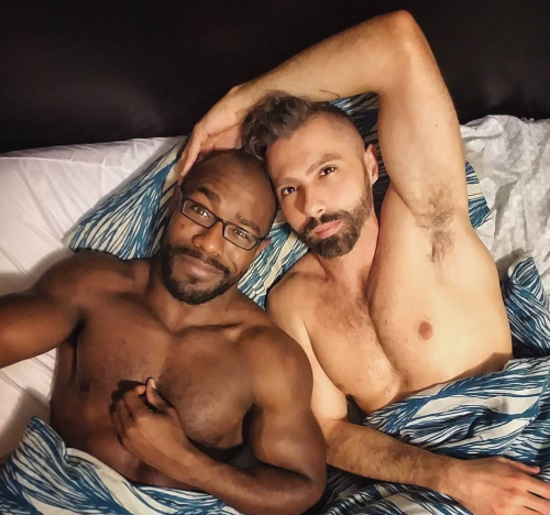 men in bed, handsome, hairy