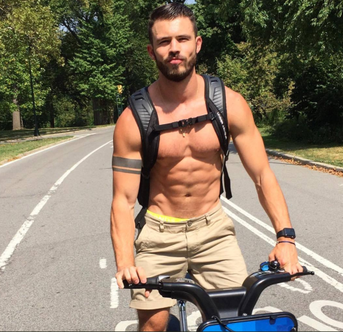 man on bike, bicycle, handsome, hunk