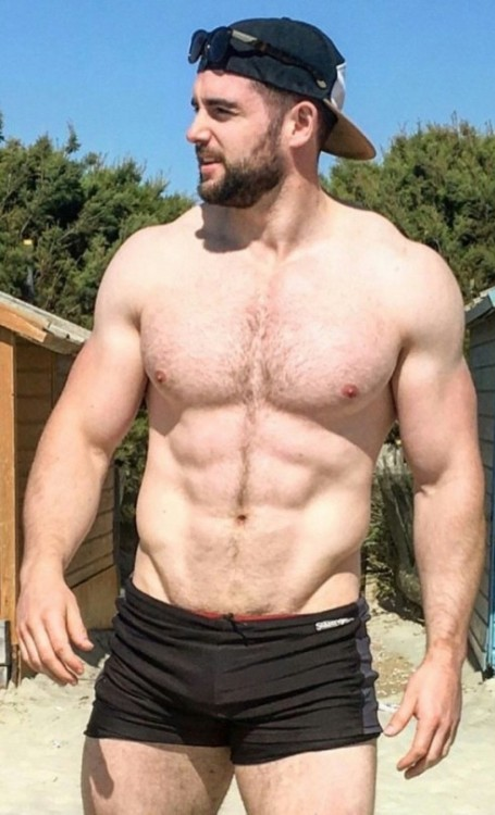 handsome, hairy, hunk, muscles, gorgeous
