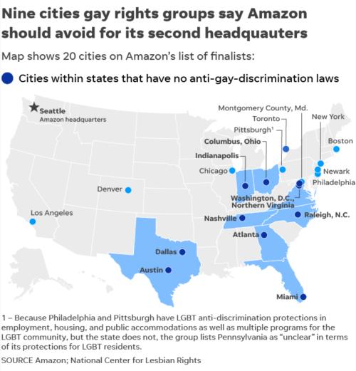 no gay? no way!, amazon headquarters, Amazon HQ2