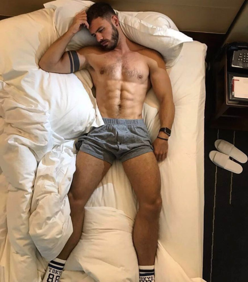 handsome, hunk, man in bed, gorgeous guy, man sleeping