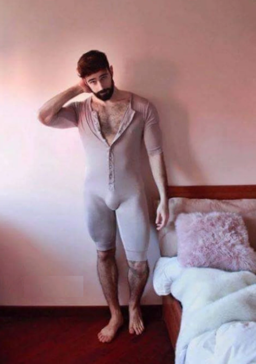 man in a onesie, sexy, handsome, hunk
