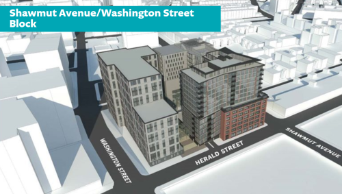 South End development, Shawmut Avenue/Washington Street Block Public Meeting