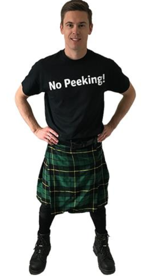 no peeking under the kilt