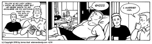 James Asal Jr., Gay comic strip, gay cartoon