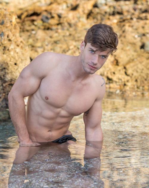 handsome, hunk, shirtless guy, muscular guy