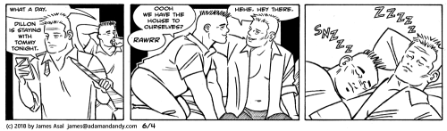 james asal jr, gay cartoon, gay comic strip
