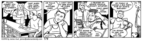 james asal jr, gay comic strip, gay cartoon
