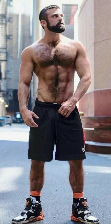 handsome, hunk, model, hairy, muscular guy