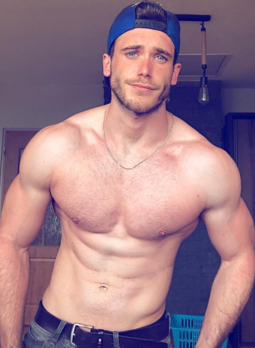 handsome, hunk, muscular guy, muscles