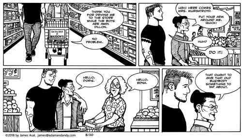gay comic, gay cartoon, james asal jr
