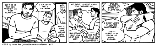 James Asal Jr., gay comic strip, gay carto
