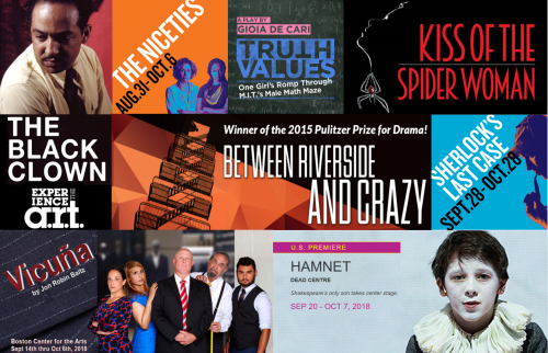 BosArts, American Repertory Theater, SpeakEasy Stage, Lyric Stage Company, Huntington Theater, Zeitgeist Stage, Central Square Theater, Emerson Theater