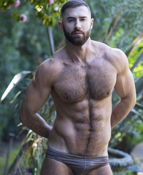 handsome, hairy, hairy chest, shirtless guy, speedo, hunk