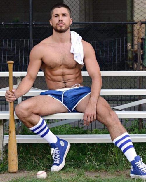 handsome, hunk, shirtless guy