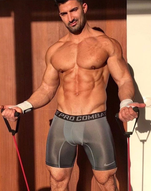 handsome, hunk, muscles