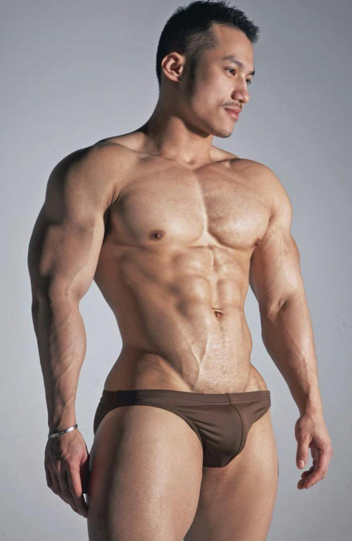 handsome, hunk, man in speedo