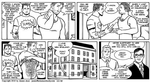 gay cartoon, gay comic, james asal jr