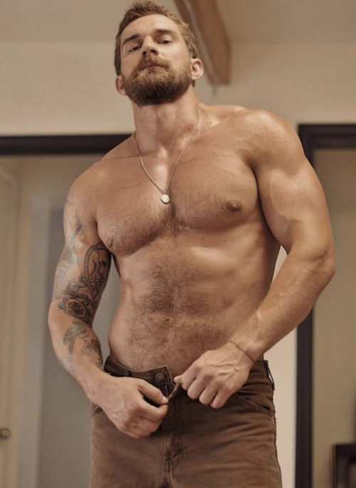 handsome, hunk, hairy man, gorgeous guy, sweaty