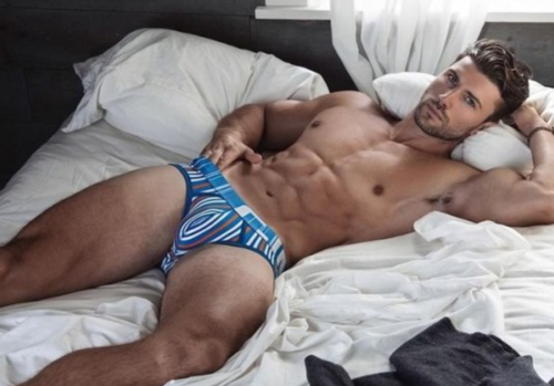 hunk, handsome, man candy, man in bed
