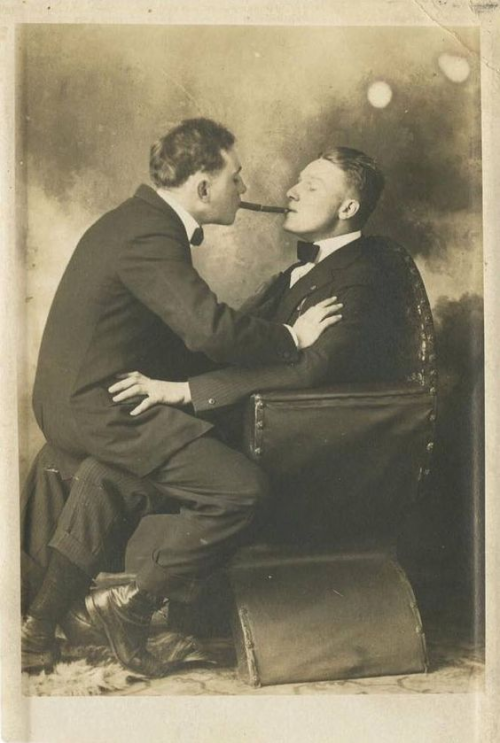 vintage gay couple photo