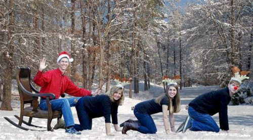 christmas, holiday humor, family photo