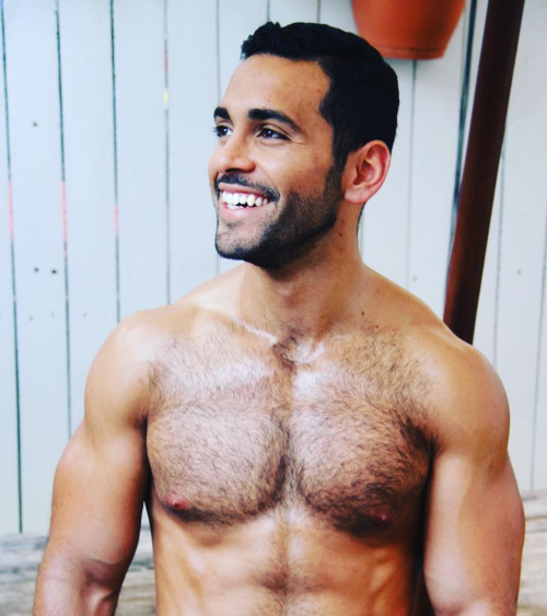 handsome venezualan, hunk, hairy chest