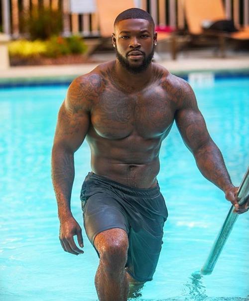 handsome, hunk, strong black man