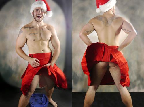men in kilts, santa in a kilt, handsome, hunk, Christmas, xmas kilt