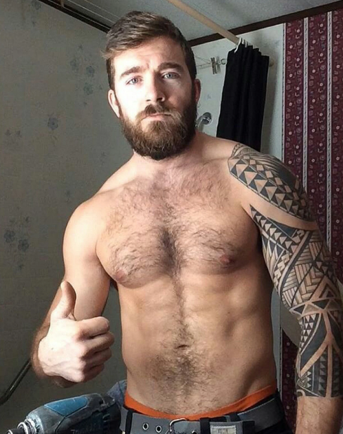 handsome, hairy guy
