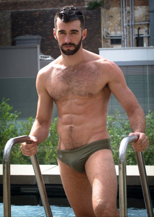 handsome, hunk, hairy, speedo, man candy, mancandy, gawjus