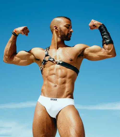 joe andrews, handsome, hunk, leather, sexy black man, fitness model, fitness trainer