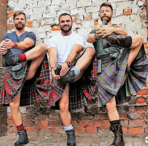 The Kilted Coaches, kilted yoga