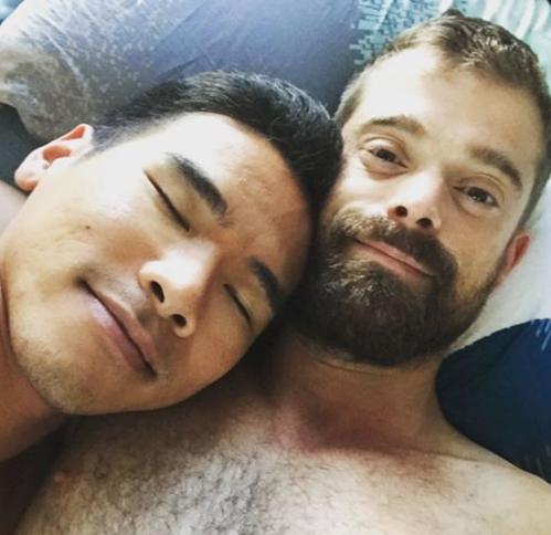 men in bed