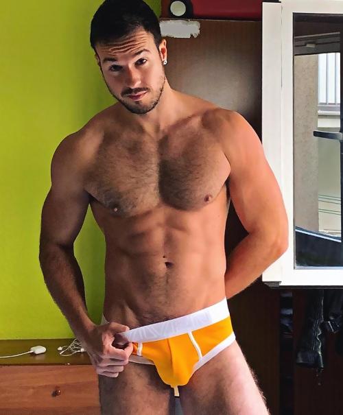 handsome, hunk, man in underwear