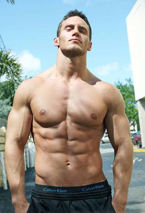 shirtless hunk, handsome