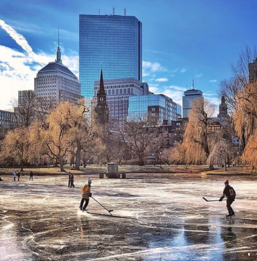 bret clancy, boston skyline, boston winter