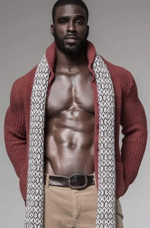 handsome, hunk, beautiful black man