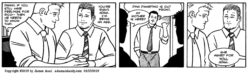 from Jared adam and andy gay comic strip