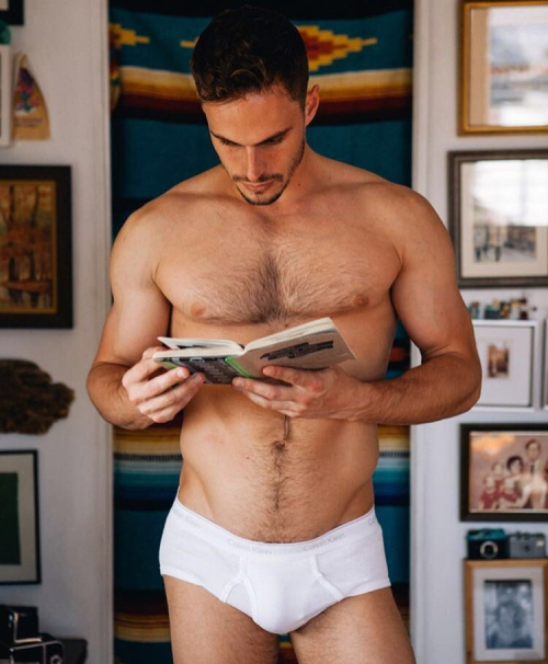 gay book club, underwear, hunk