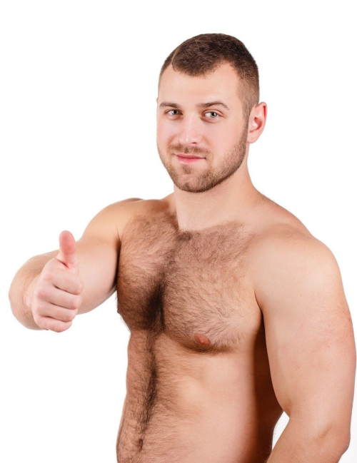 handsome, shirtless man