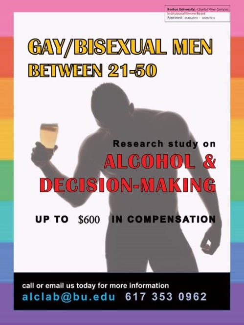 alcohol consumption, gay men, single gay men drinking