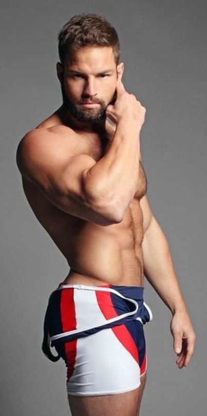 man in a singlet, handsome, hunk