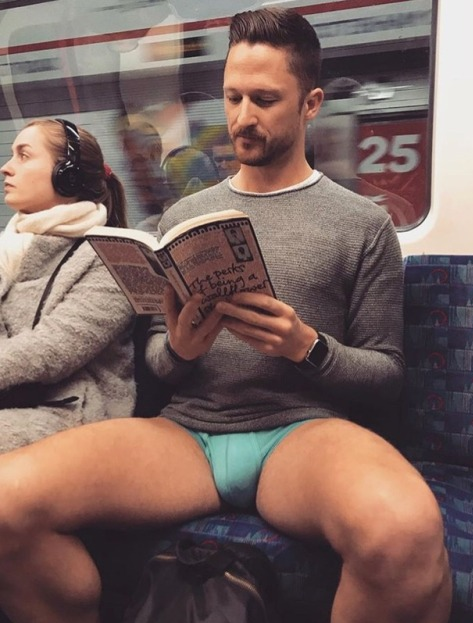 underwear, man on subway